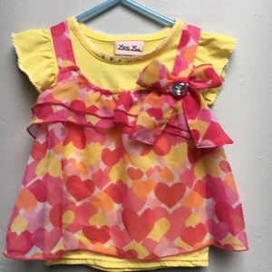 Little Lass adorable Top 2T